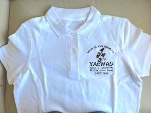 YACWAG ladies polo shirt in white
